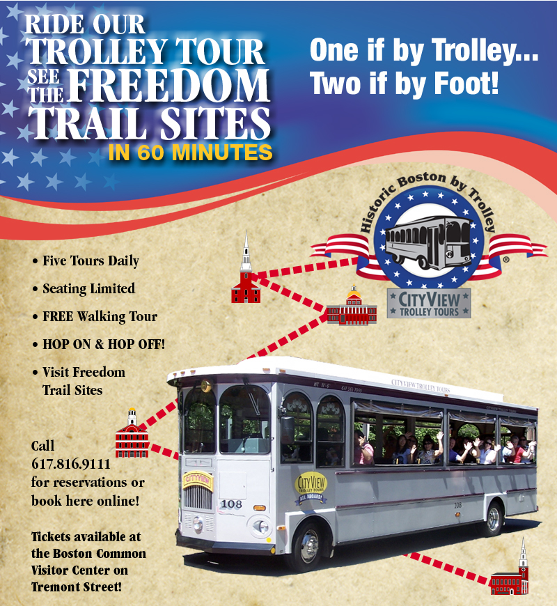 Explore Historic Boston by Trolley! Book Online!